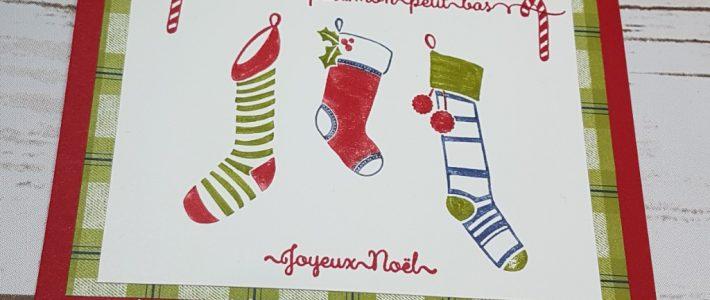 Carte de Noël simple Stampin' Up!